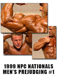 1999 NPC Nationals: Men's Prejudging Tape #1: Bantam to Middleweight