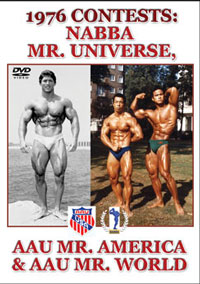 1976 CONTESTS NABBA MR UNIVERSE AAU MR AMERICA & AAU MR WORLD