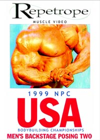 1999 NPC USA: Men's Backstage Posing 2