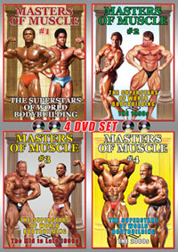 Masters of Muscle Vols 1 - 4: 4 DVD Set [PCB-461DVDSP]